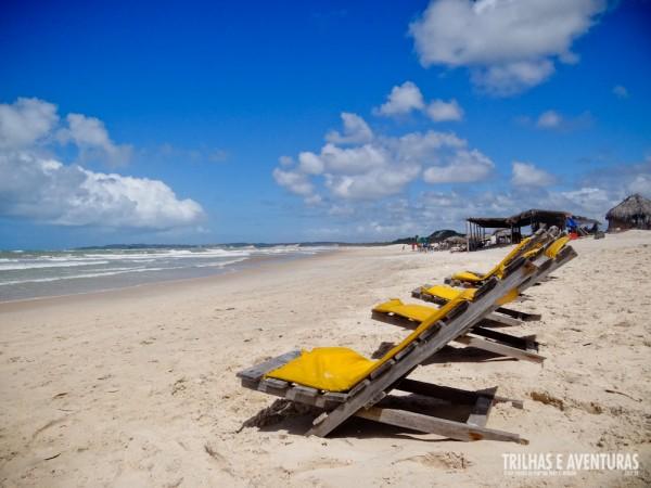 Cadeiras de praia em Barra de Cunhaú