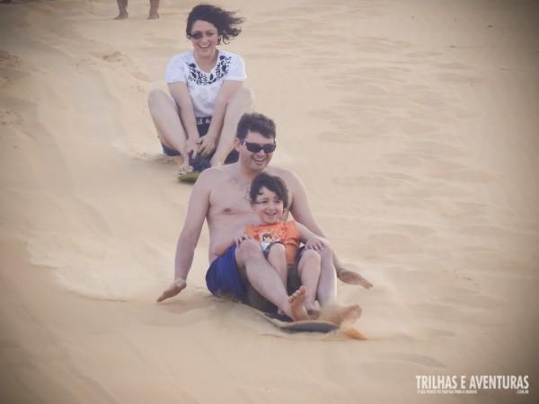O Sandboard é diversão garantida para todas as idades