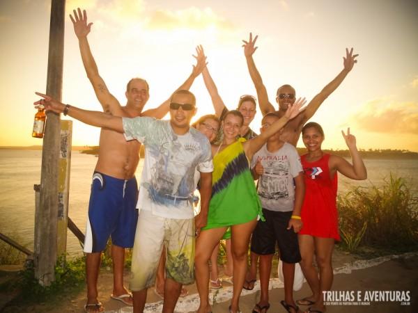 Os novos amigos e companheiros de aventura no passeio de Pipa a Cunhaú