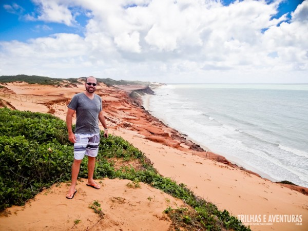 Falésias da Praia das Minas, vista do mirante