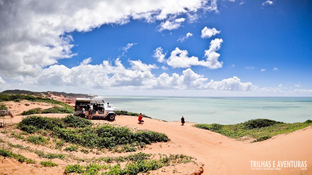 Panorâmica do Mirante da Praia das Minas com a Toyota da Jardineira 4x4 Tour