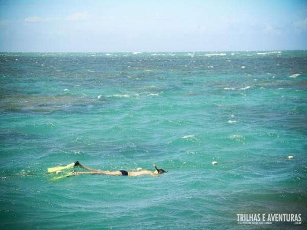 ... e eu fui, é claro! Mesmo com o mar agitado, até que foi legal.