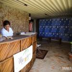 Sala de massagem e porta objetos para os hóspedes