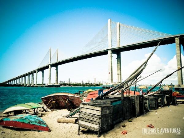 Ponte Newton Navarro vista da Praia da Redinha