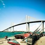 Panorâmica da Ponte Newton Navarro vista da Praia da Redinha