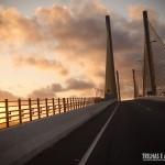 Fim de tarde na Ponte Newton Navarro