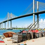 Ponte Newton Navarro tirada do celular