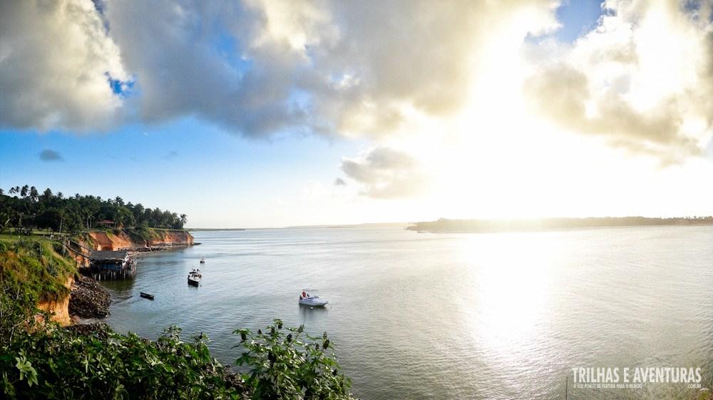 Panorâmica antes do Pôr-do-Sol na Lagoa de Guaraíras, em Tibau do Sul
