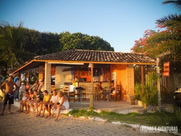 A Creperia é o point da galera que vai assistir ao Pôr-do-Sol na Lagoa de Guaraíras