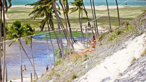 A tirolesa é apenas uma das muitas atividades em Punaú