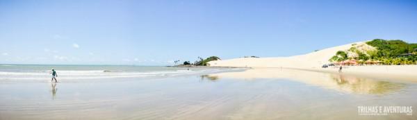Panorâmica da Praia e Dunas de Genipabu - RN