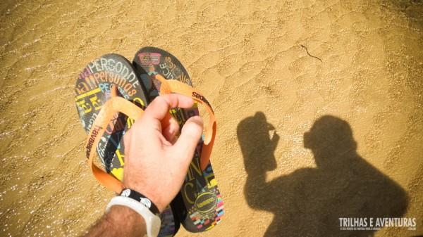 É uma delicia caminhar descalço nas águas rasas do Rio Punaú...