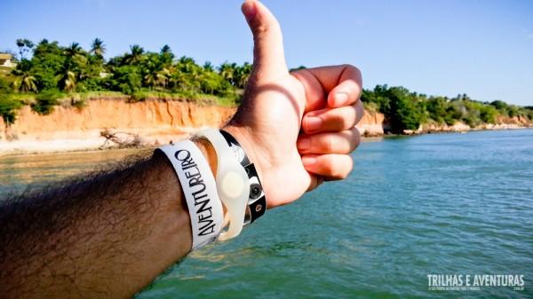 A pulseira com o nome do barco é igual ao nome do nosso blog!