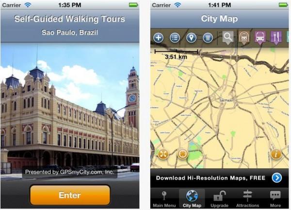 São Paulo Map and Walking Tours - App de Viagem de São Paulo
