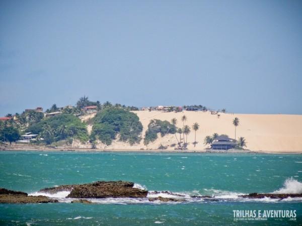 As dunas de Genipabu onde ficam os dromedários