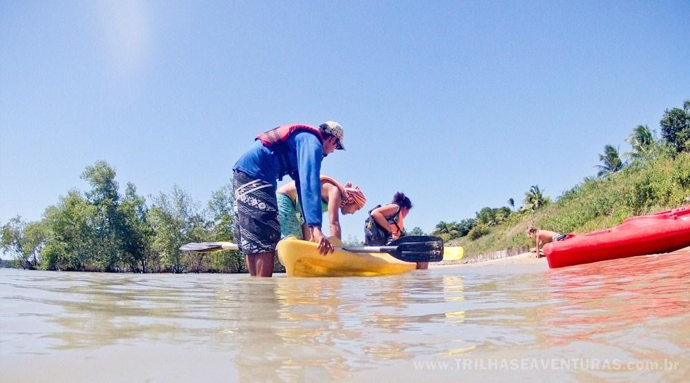 Uma pausa mais do que merecida depois de remar nos manguezais