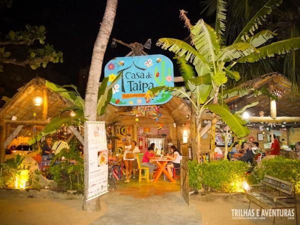 Restaurante Casa de Taipa, em Ponta Negra - Natal