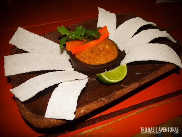 Casquinha de siri com tapioca, em formato de siri!