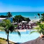 Panorâmica do D Beach Resort, em Natal, com o Morro do Careca ao fundo