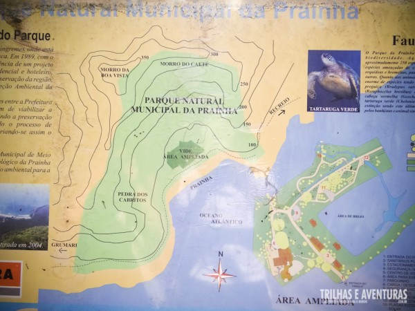 Mapa do Parque Natural Municipal da Prainha