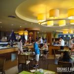 Restaurante interno do café da manhã e refeições