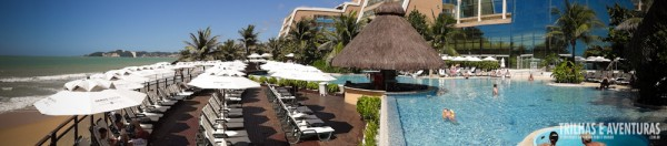 Panorâmica da área externa do Serhs Natal Grand Hotel