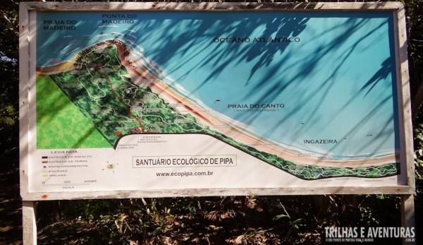 Mapa do Santuário Ecológico de Pipa