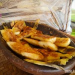 Aipim frito com açúcar e canela no café da manhã