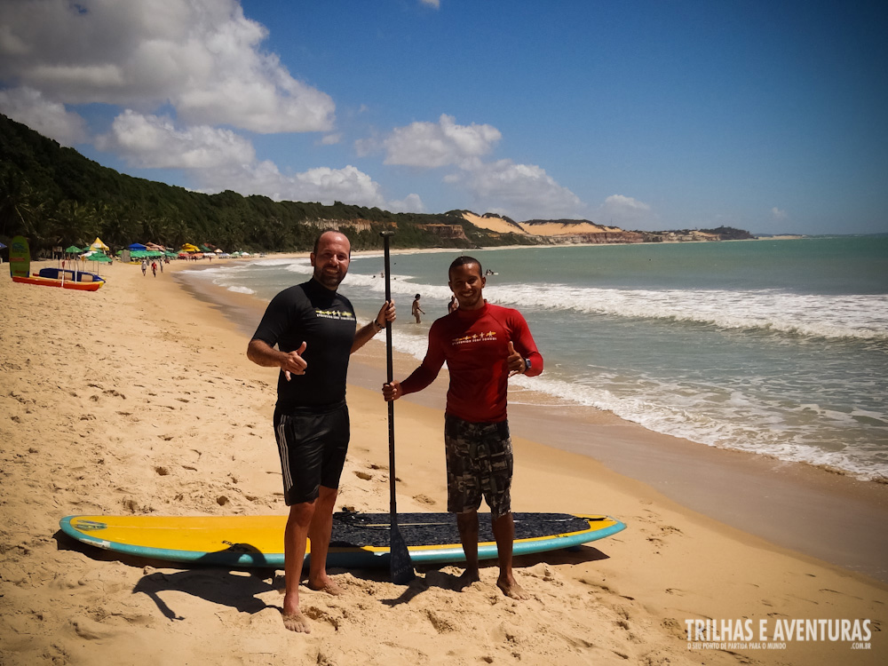 Com meu professor de Stand Up Paddle da Evolution Surf School