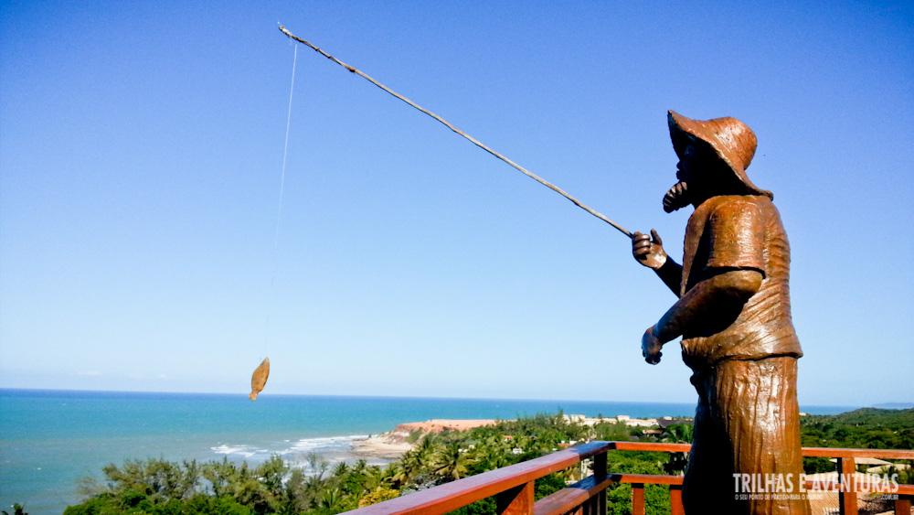 Estátua do pescador de Pipa, no Hotel Sombra e Água Fresca