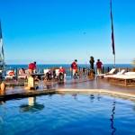 Piscina com vista panorâmica do Hotel Sombra e Água Fresca