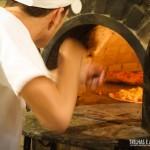 Pizzas preparadas no forno a lenha ficam ainda mais saborosas