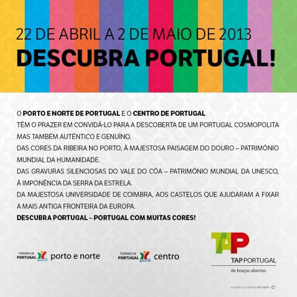 Carta convite que recebemos para Descobrir Portugal