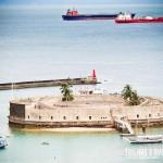 Forte de São Marcelo, na baía de Todos os Santos