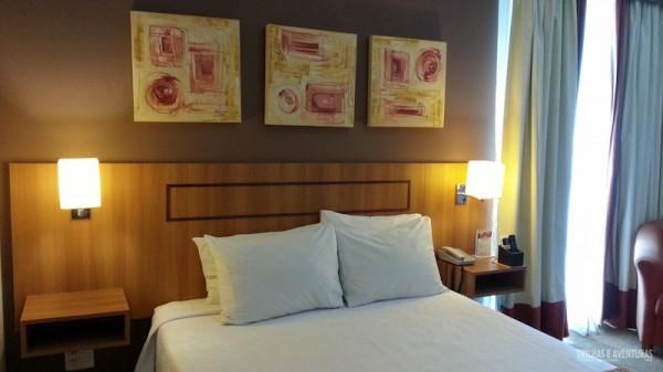 Minha deliciosa cama no Hotel Comfort Ibirapuera