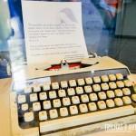 Máquina de datilografia usada para escrever as cartas