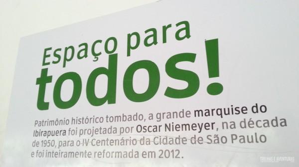 Parque Ibirapuera, um espaço para todos. Obra do grande Niemeyer