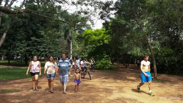Além das ciclovias tem também trilhas rústicas em todo o parque