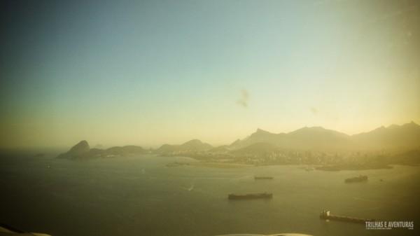 Chegando no Rio de Janeiro em um belo fim de tarde