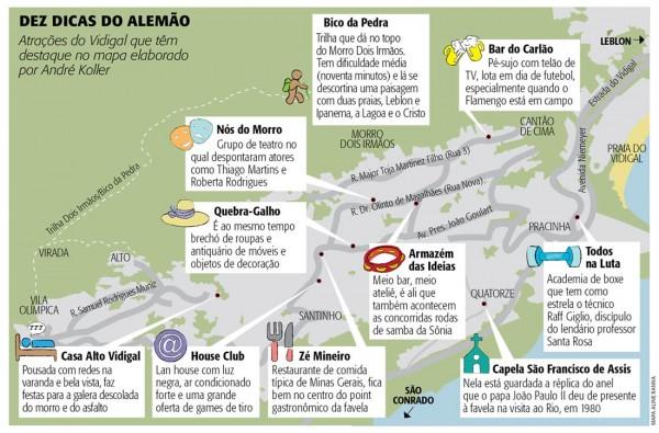10 dicas no Morro do Vidigal - por André Koller