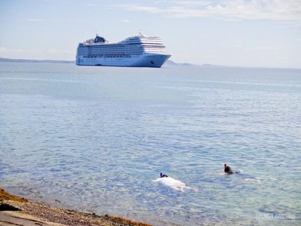 Os navios de cruzeiro já fazem parte da paisagem de Búzios