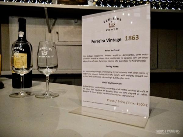 Ferreira Vintage 1863, ao custo de 1500 euros