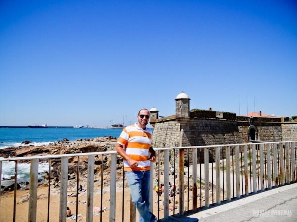 Eu mesmo no Forte de São Francisco Xavier, no Porto