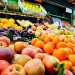 Frutas frescas no Mercado do Bolhão