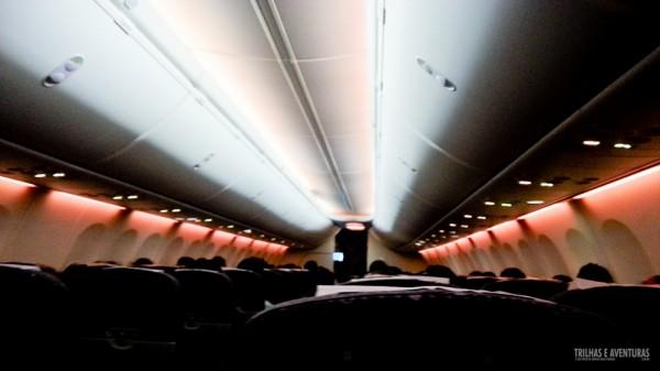 Nova iluminação da cabine da GOL