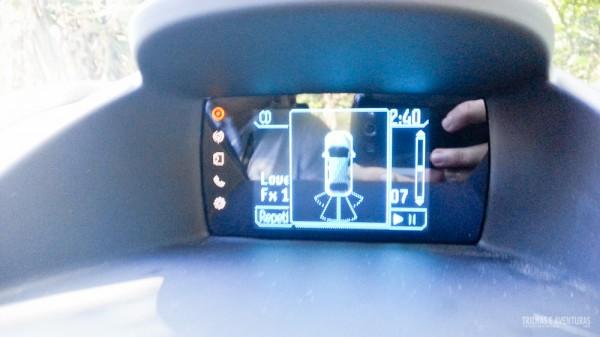 Sensor inteligente de ré em funcionamento