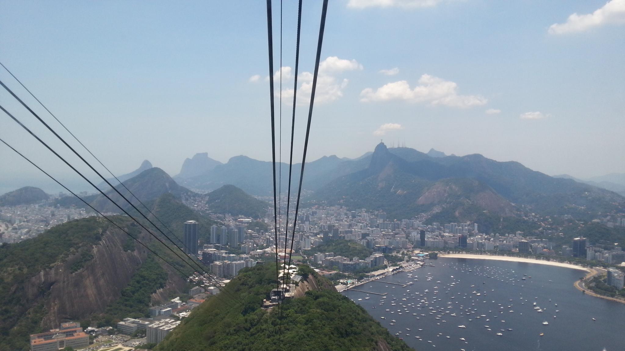 Vista 360 graus do Pão de Açúcar, no Rio de Janeiro