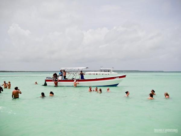 La Palmilla foi nossa primeira parada em alto mar com água na altura da cintura