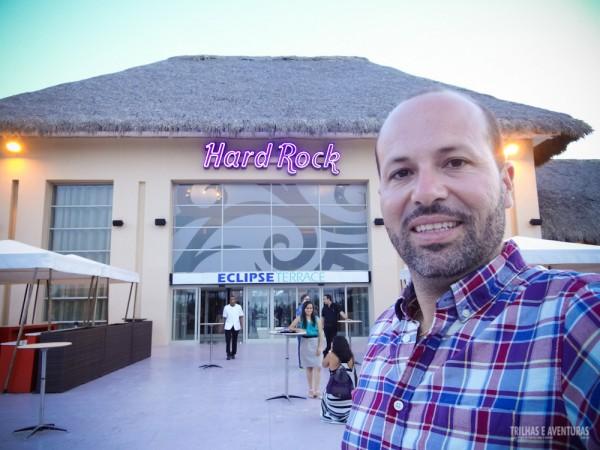 Olha eu aí no Terraço do Hard Rock Hotel e Cassino Punta Cana