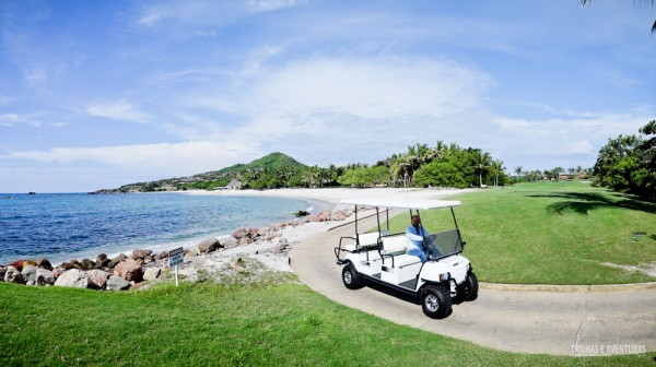 Campo de golfe na beira mar de Punta Mita